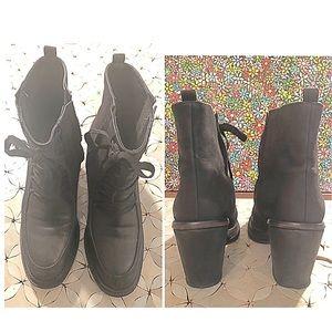 Rachel Comey lace up leather ankle boots Sz 8.5